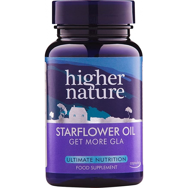 Higher Nature Starflower oil - Kurgirohuõli, naise hormonaaltasakaal - 30tbl - toidulisand