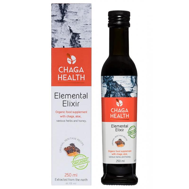 Chaga Health Eliksiir väsimus, soolestik, immuunsus  250ml MAHE (alk 6% vol) - toidulisand
