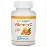 California Gold Nutrition Vitamin C Gummies - C vitamiini kummikommid, apelsini maitsega, želatiinivaba - 90tk - toidulisand