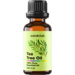 Coral Club Tea Tree Oil - teepuu õli,  rasuse, kuiva ja probleemse (akne) naha hoolduses, väikeste lõikevigastuste, marrastuste ja põletuste korral - 30ml