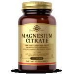 Solgar Magnesium Citrate - magneesiumtsitraat, lihased, süda - 60tbl - toidulisand