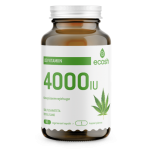 Ecosh D3 vitamiin 4000IU kanepiseemnejahuga 90tbl - toidulisand