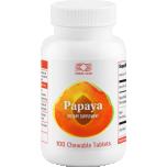 Papaya - papaia, papaiin, seedimine, fermendid, helmendid, moodustised, kehakaal - 100tbl - toidulisand