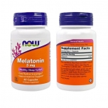 Now Foods Melatoniin uni 3mg 180 tbl - toidulisand