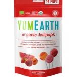 YumEarth Organic Lollipops - puuviljamaitselised mahedad pulgakommid 14tk