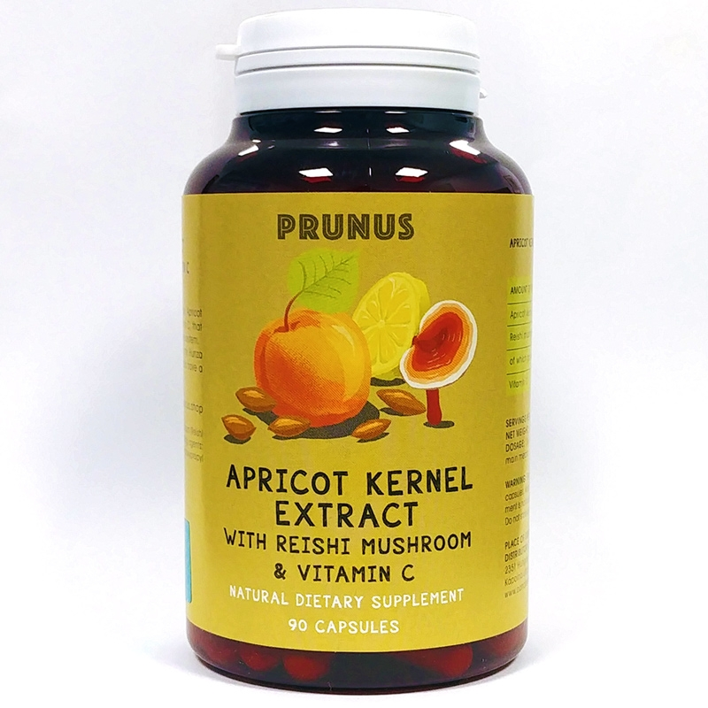 Aprikoosiseemne ekstrakt reishi seene ja C vitamiiniga 90tbl - toidulisand