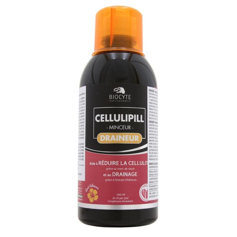 Biocyte Cellulipill draineur - tselluliit, diureetik,  kaalualandusjook, puhastav jook 500ml - toidulisand