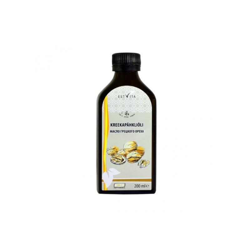 Estvita Kreekapähkliõli - E vitamiin, tsink, süda, veresooned, nahk - 200ml