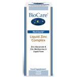 BioCare Nutrisorb Liquid Zinc Complex - vedel tsingikompleks, immuunsus, nahk, juuksed, hormoonid, diabeet - 150ml - toidulisand