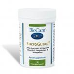 BioCare SucroGuard - veresuhkru tasakaalustaja, B vitamiinid, C, Mg, Mn, Cr - 30tbl - toidulisand