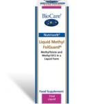 BioCare Liquid Methyl FolGuard + B12 - vedel metüülfolaat ja B12-vitamiin, vereloome, ainevahetus, väsimus, kurnatus - 15ml - toidulisand