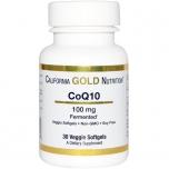 California Gold Nutrition koensüüm Q10 100mg - energia, kolesterool, süda - 30tbl - toidulisand
