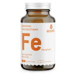 Ecosh FE Ferrochel - raud diglütsinaat, aitab kaasa normaalsele verepunaliblede ja hemoglobiini moodustumisele ning hapniku transpordile - 90tbl - toidulisand