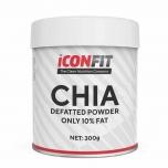 Iconfit Chia pulber, jahu - vähendatud rasva sisaldusega, kiudaine, proteiin - 300g - toidulisand