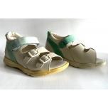 Totto - laste ortopeediline jalats - beez-roheline