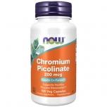 Now Foods Chromium Picolinate 200µg - kroom, veresuhkur, kaal, kolesterool - 100tbl - toidulisand