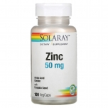 Solaray Zinc 50mg - Tsink 50 mg - 100 tbl