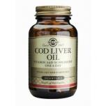 Solgar Cod Liver Oil - Tursamaksa õli, Omega 3, vitamiin A, D3, liigesed, süda, nahk, juuksed, küüned - 100tbl - toidulisand