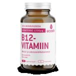 Ecosh B12 vitamiin - hea imenduvusega, norm energiavahetus, närvisüsteem, immuunsus, homotsüsteiin, väsimus, kurnatus - 90tbl - toidulisand