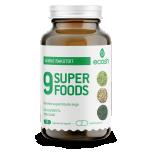 Ecosh 9 Superfoods - keha puhastumine, taimne rakutoit - 90tbl - toidulisand