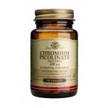 Solgar Kroompikolinaat 100µg - kroom, veresuhkur, kaal, kolesterool - 90tbl - toidulisand