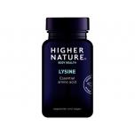 Higher Nature Lysine - lüsiin, aminohape, immuunsus, süda, herpes, viirused, luukude, kollageen - 90 tbl - toidulisand