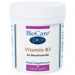 BioCare Vitamiin B3 ehk Niatsiinamiid - närvid, ainevahetus, energia, aju töö - 30tbl - oidulisand