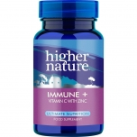 Higher Nature Immune + C vitamiin koos tsingiga, immuunsus 90tbl - toidulisand