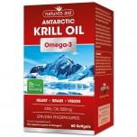 Natures Aid Krill Oil - krilliõli, hiigelvähiõli, Omega 3, aju, nägemine, süda, 500mg - 60tbl - toidulisand