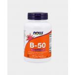 Now Foods B 50 - Vitamiin B 50 50mg, energia, seedimine, närvisüsteem - 100tbl - toidulisand