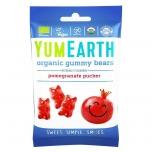YumEarth Organic Gummy Bears Pomegranate - mahedad kummikommid, kummikarud, granaatõun - 50g