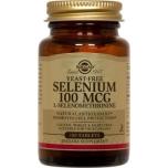 Solgar seleen-immuunsus, hingamissüsteem, organismi puhastamine,juuksed,küüned 100tbl Toidulisand