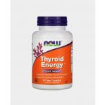 Now Foods Thyroid Energy - kilpnääre, väsimus, kurnatus, jood, seleen, tsink, B6, B12 - 90tbl - toidulisand