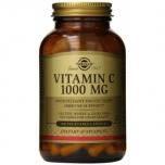 Solgar Vitamin C 1000 mg - C vitamiin, kollageeni tootmine, energia, liigesed, immuunsus - 100tbl - toidulisand