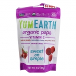 YumEarth Organic Pops Vitamin C - C vitamiiniga mahedad pulgakommid - 14tk