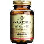 Solgar Magnesium with Vitamin B6 - magneesium ja vitamiin B6, lihaste nõrkus, väsimus, südame töö - 100tbl - toidulisand