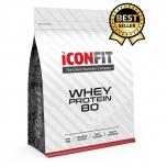 ICONFIT Whey protein 80 metsmaasika maitseline-lihased, vaegtoitumus, 1KG